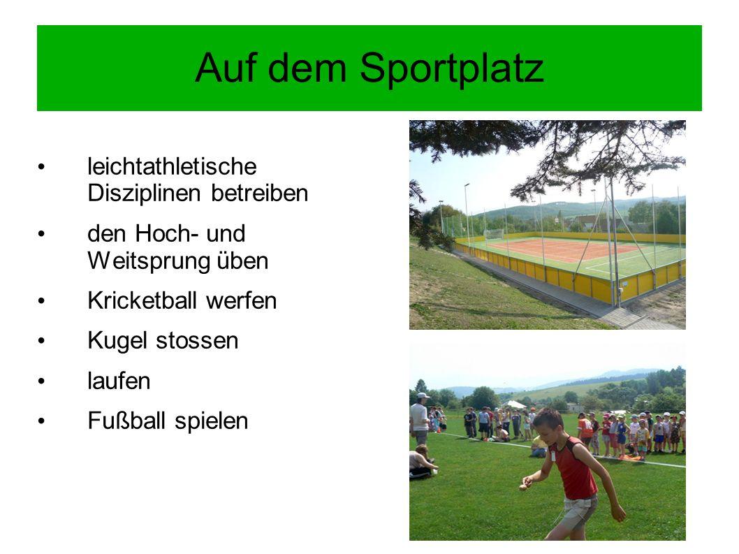 FRAGEN Warum treibt man Sport.Welche Sporteinrichtungen kann man fürs Sporttreiben nutzen.
