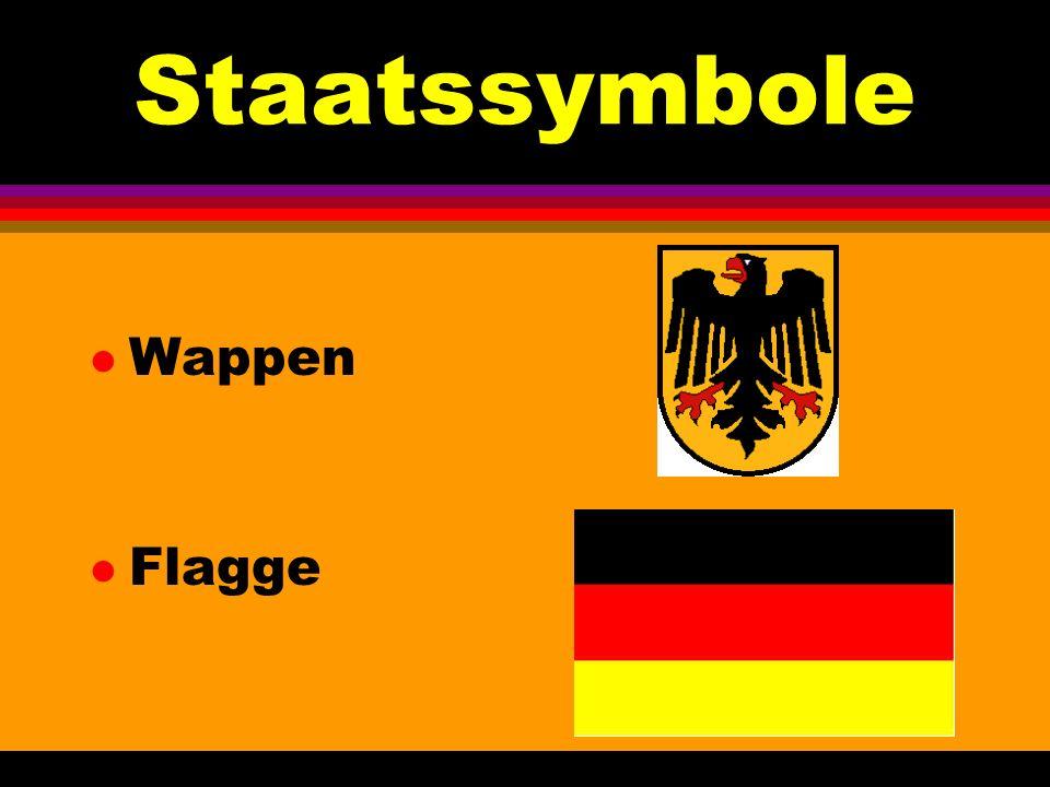 Deutschland l demokratische, parlamentarische Republik l besteht aus 16 Bundesländern l Wiedervereinigung am 3.