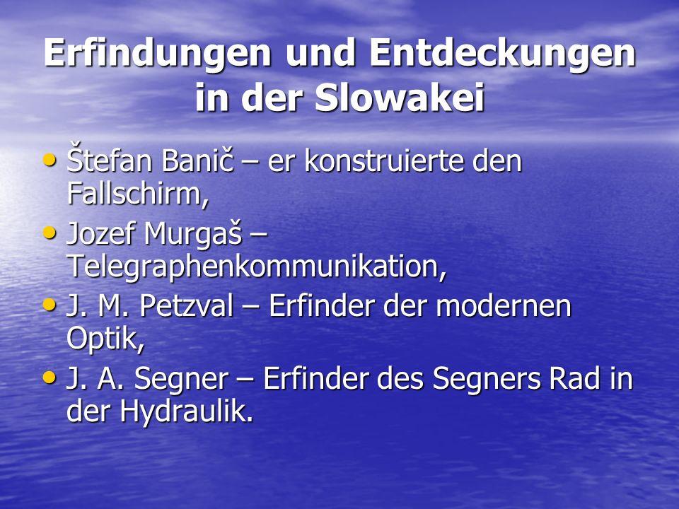 Erfindungen und Entdeckungen in der Slowakei Štefan Banič – er konstruierte den Fallschirm, Štefan Banič – er konstruierte den Fallschirm, Jozef Murga