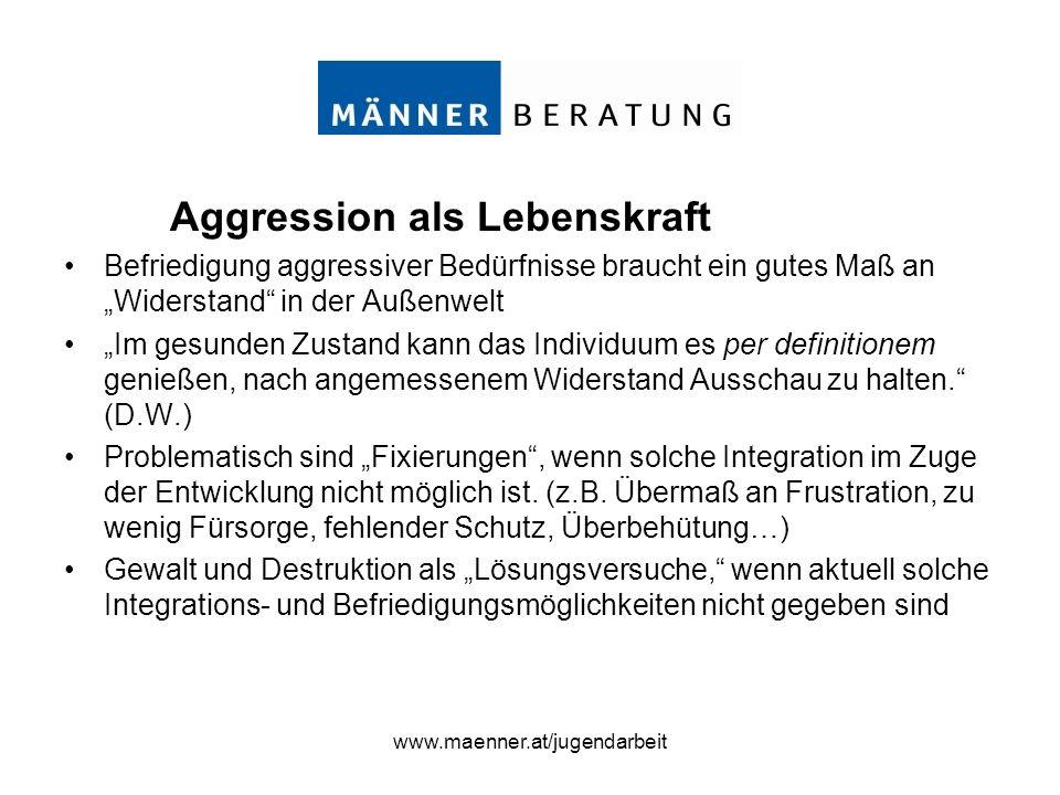 www.maenner.at/jugendarbeit Wertschätzung & Konfrontation …zwei Grundhaltungen, die zusammengehören.