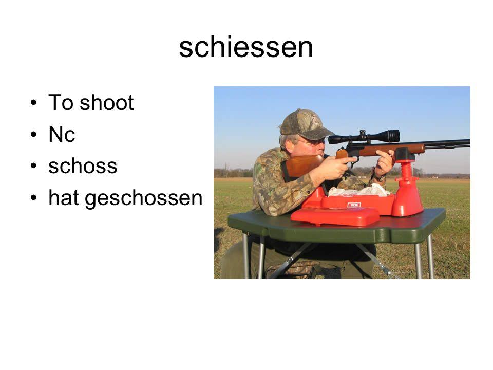 schiessen To shoot Nc schoss hat geschossen