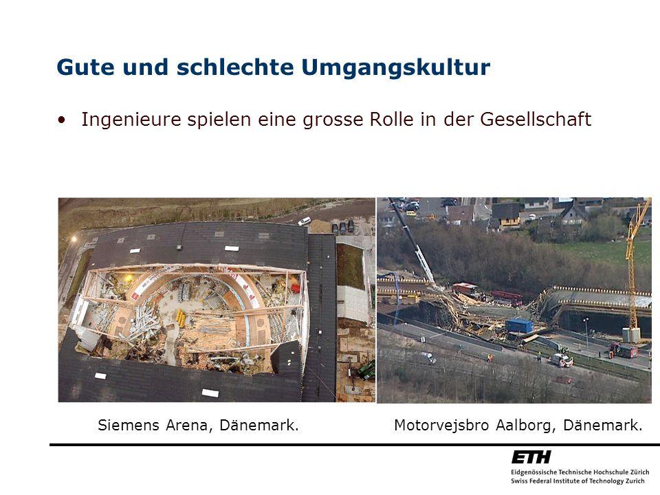 Gute und schlechte Umgangskultur Ingenieure spielen eine grosse Rolle in der Gesellschaft Siemens Arena, Dänemark. Motorvejsbro Aalborg, Dänemark.