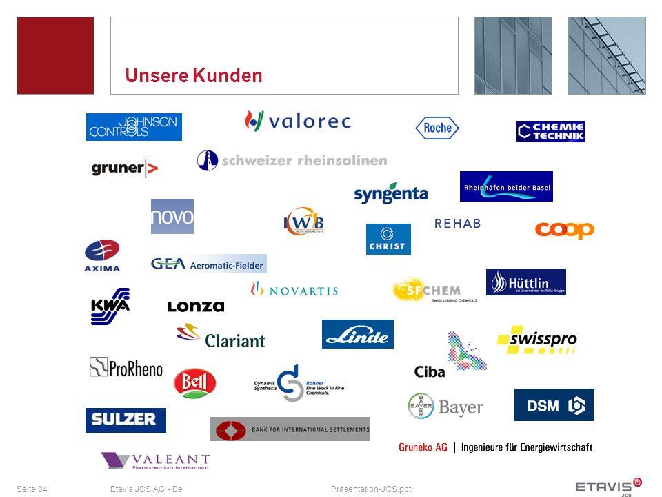 Seite 34Etavis JCS AG - BePräsentation-JCS.ppt Unsere Kunden