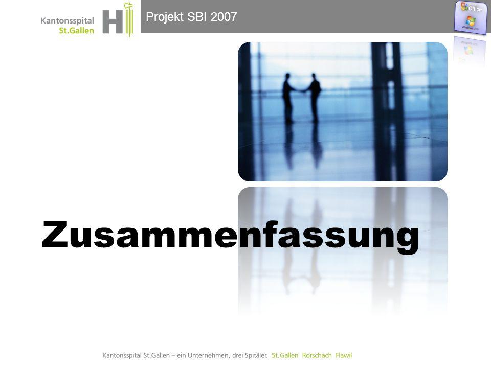 Projekt SBI 2007 Zusammenfassung