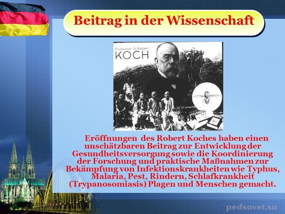 Robert Koch starb am 27.Mai 1910.