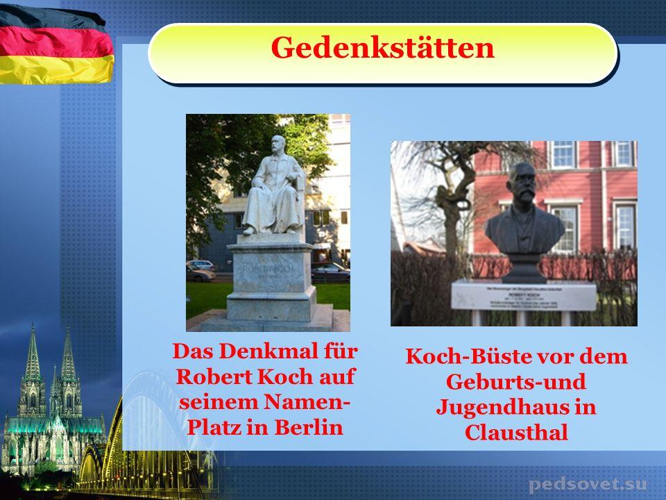 Meine Meinung Robert Koch wurde stellvertretend.