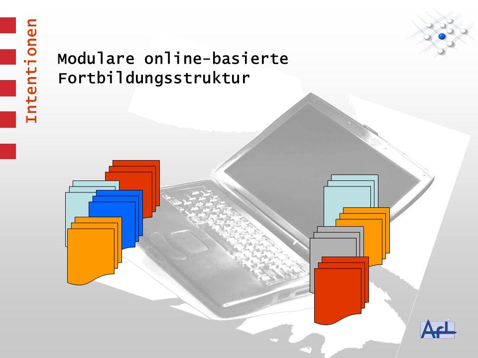 Modulare online-basierte Fortbildungsstruktur Intentionen