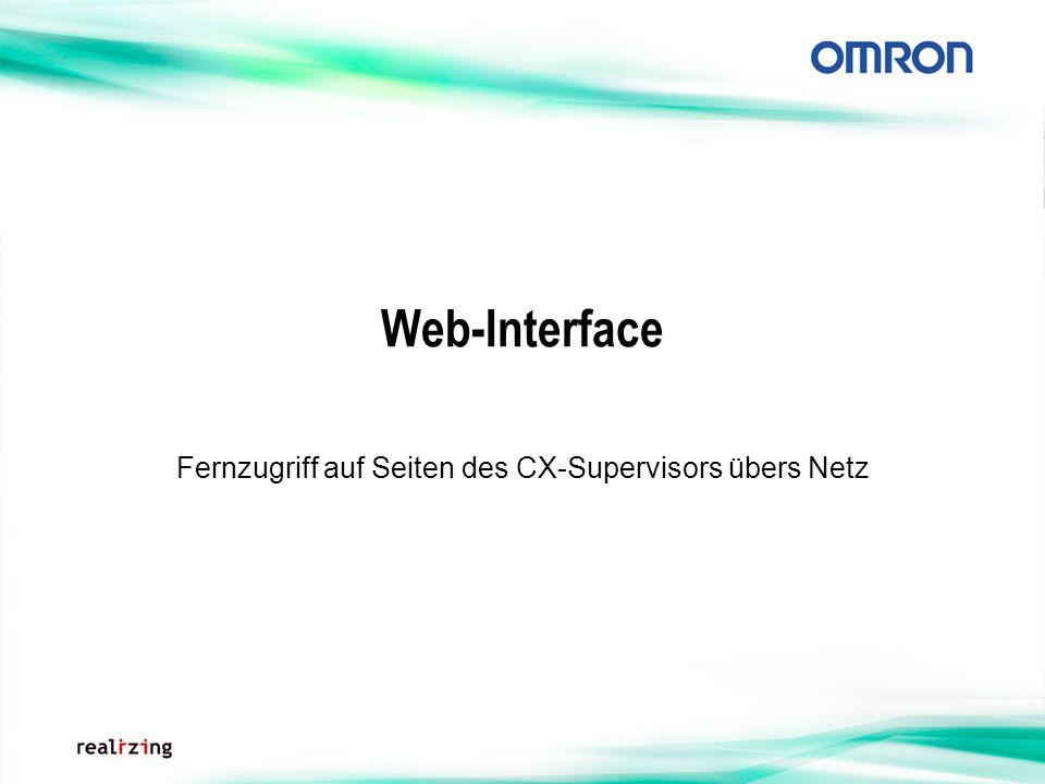 Web-Interface Fernzugriff auf Seiten des CX-Supervisors übers Netz