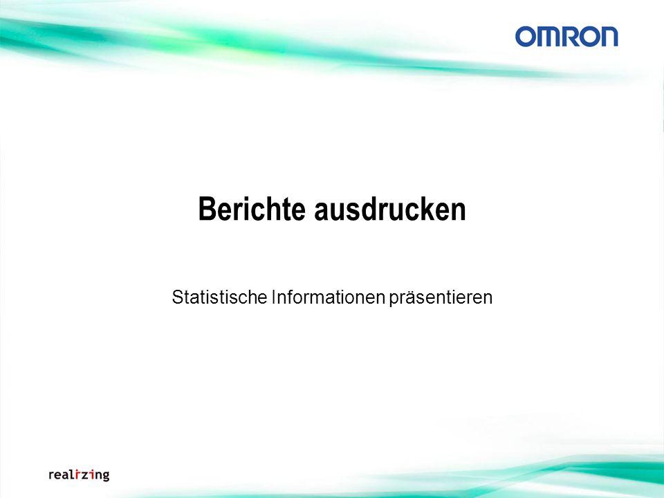 Berichte ausdrucken Statistische Informationen präsentieren