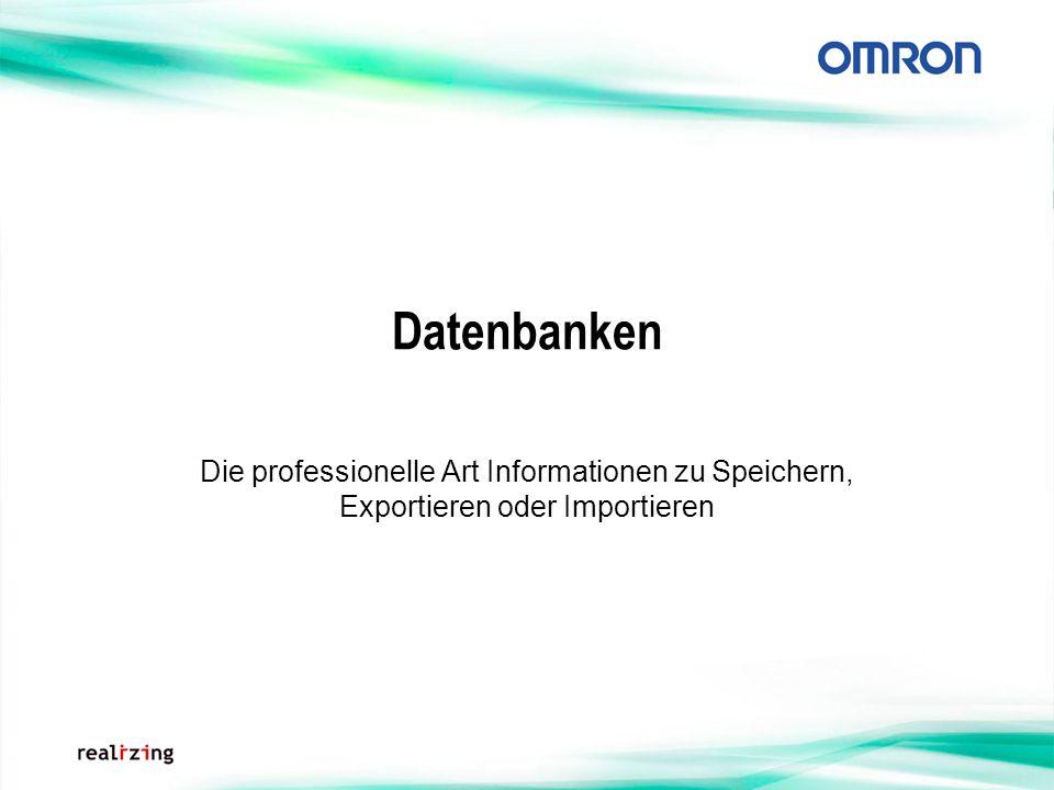 Datenbanken Die professionelle Art Informationen zu Speichern, Exportieren oder Importieren