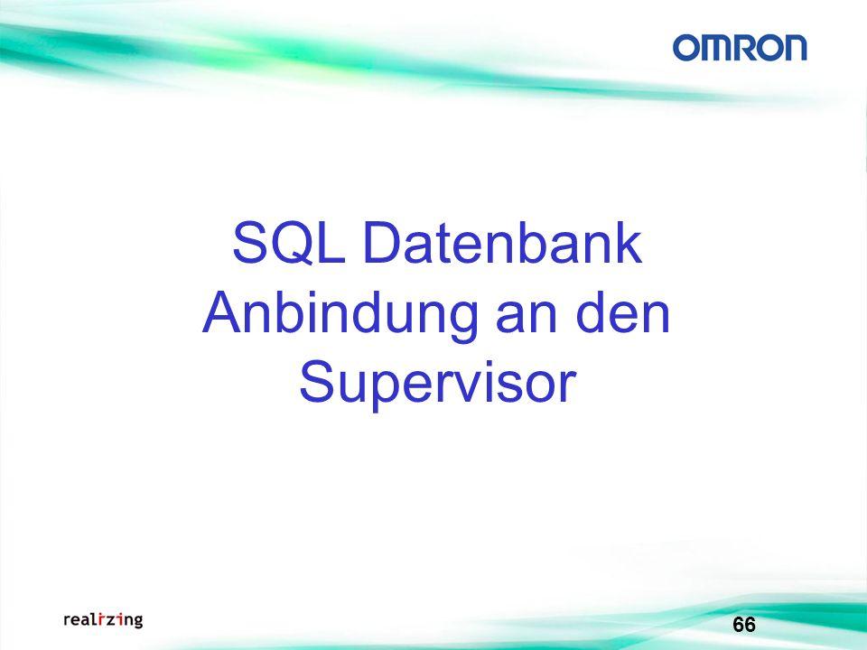 66 SQL Datenbank Anbindung an den Supervisor
