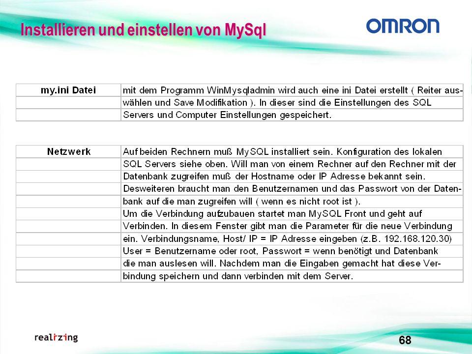 68 Installieren und einstellen von MySql