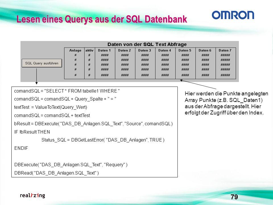 79 Lesen eines Querys aus der SQL Datenbank comandSQL =