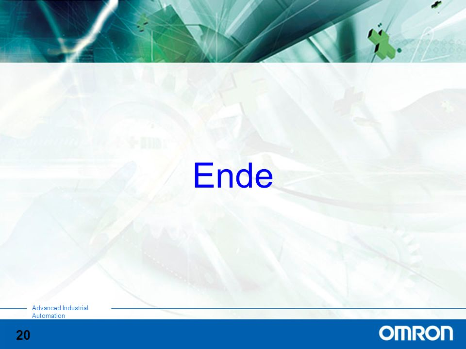 20 Advanced Industrial Automation Ende