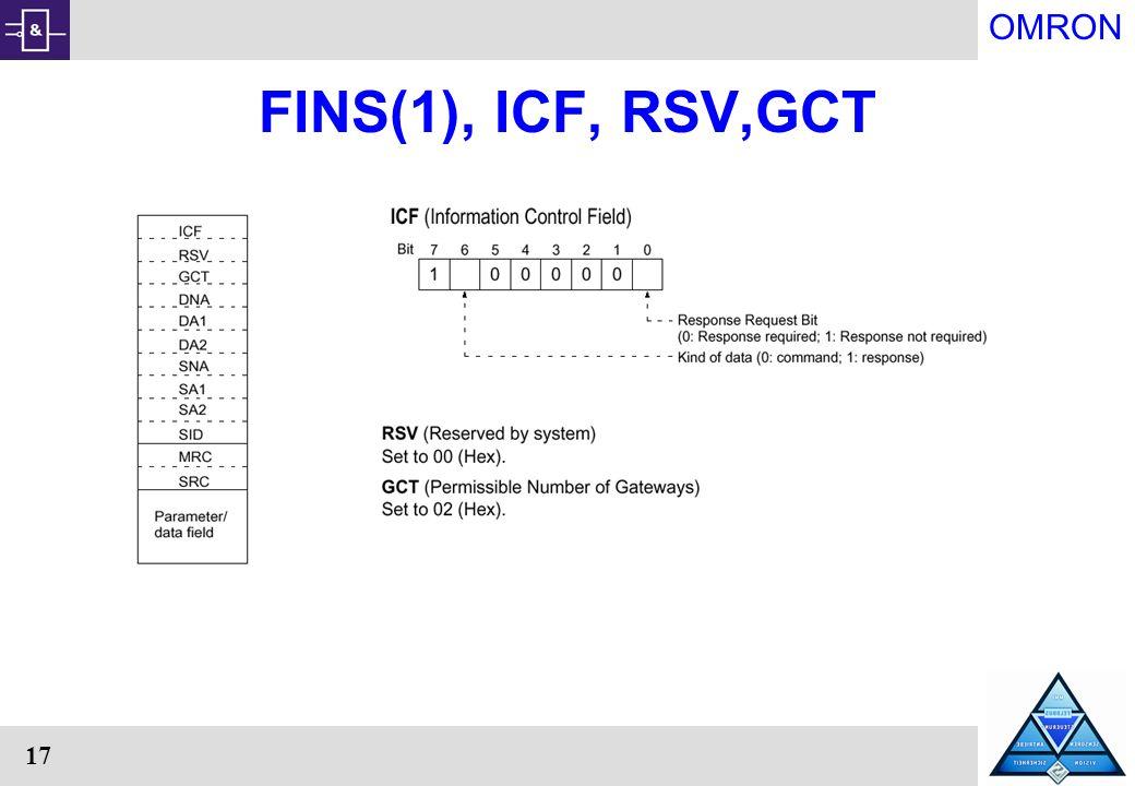OMRON 17 FINS(1), ICF, RSV,GCT