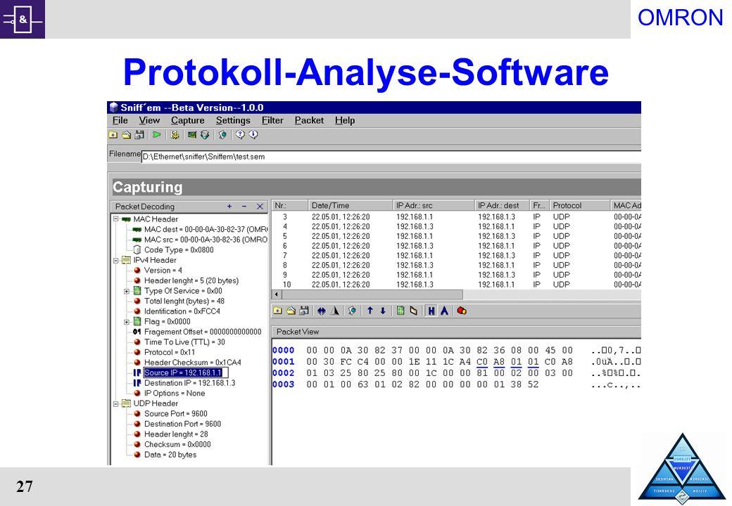 OMRON 27 Protokoll-Analyse-Software