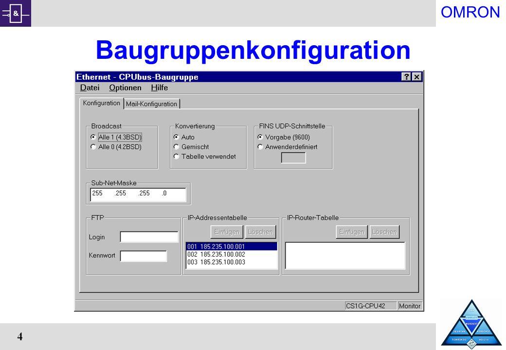 OMRON 4 Baugruppenkonfiguration
