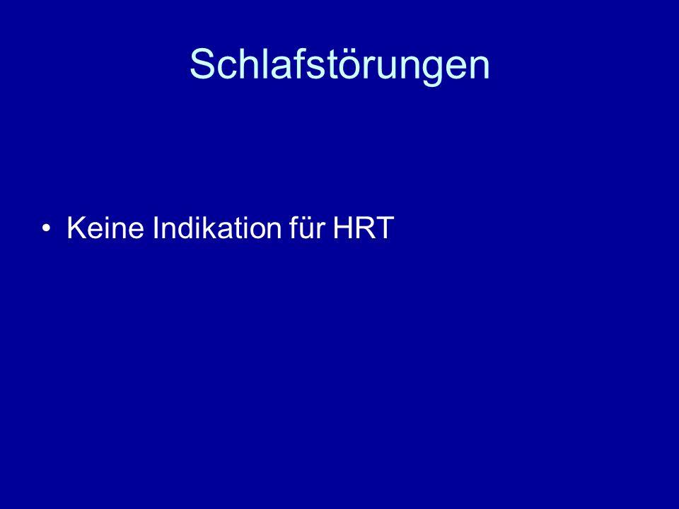 Schlafstörungen Keine Indikation für HRT