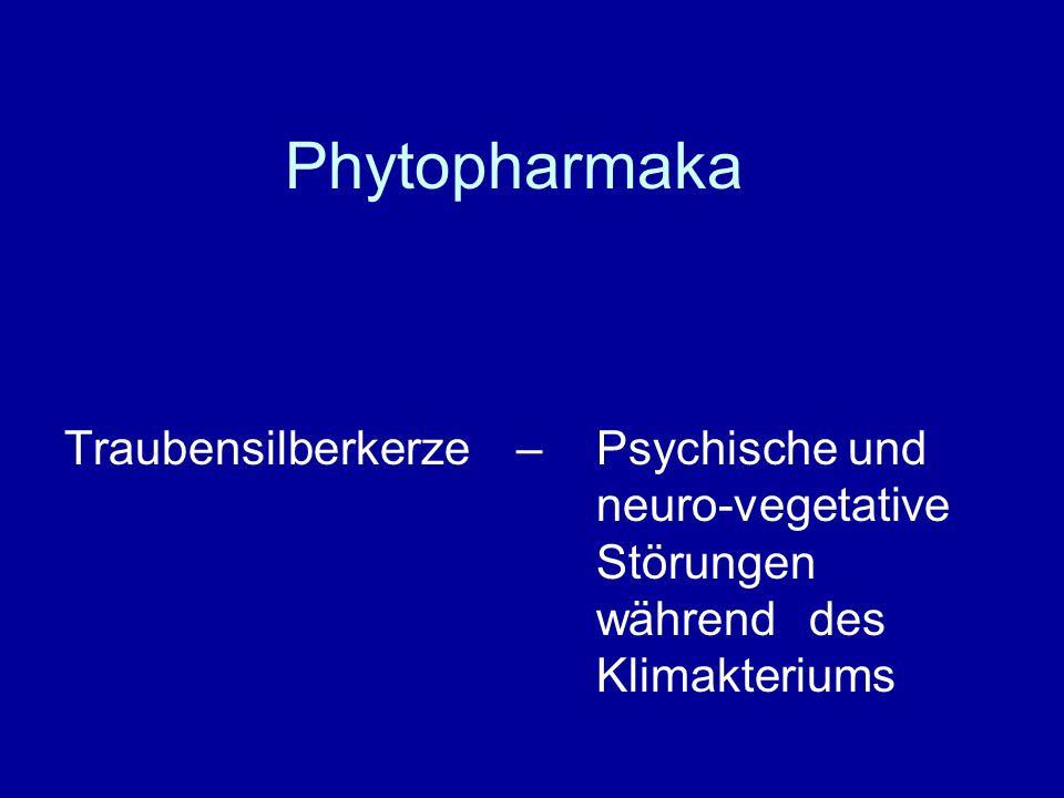 Phytopharmaka Traubensilberkerze – Psychische und neuro-vegetative Störungen während des Klimakteriums