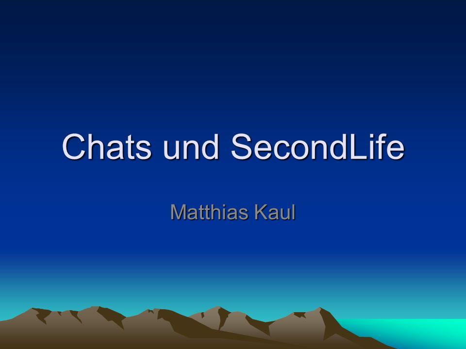 Was ist SecondLife Second Life wurde ab 1999 von Linden Lab in San Francisco entwickelt und hat derzeit rund 11 Millionen Benutzer Ziel: eine vom Benutzer bestimmte Parallelwelt von allgemeinem Nutzen, in der Menschen interagieren, spielen, Handel betreiben und anderweitig kommunizieren können.