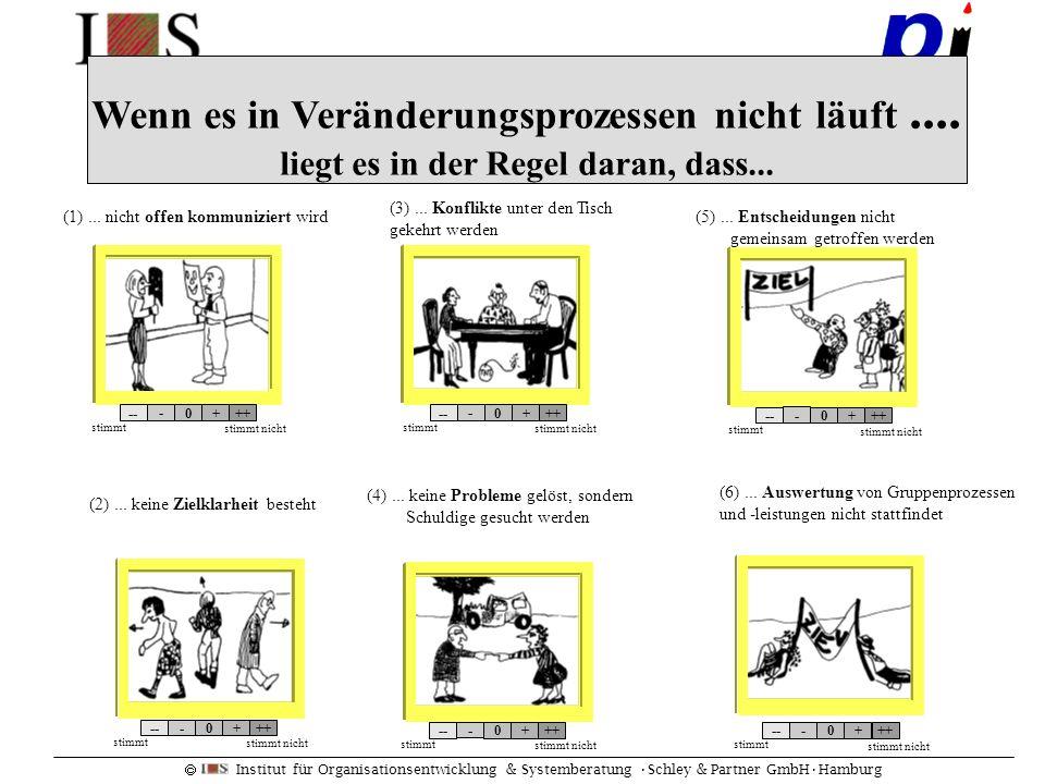 Institut für Organisationsentwicklung & Systemberatung Schley & Partner GmbHHamburg Wenn es in Veränderungsprozessen nicht läuft.... liegt es in der R