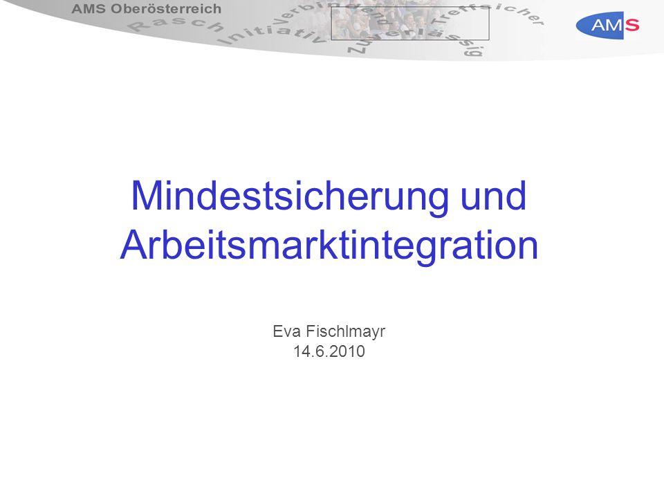 Mindestsicherung und Arbeitsmarktintegration Eva Fischlmayr 14.6.2010