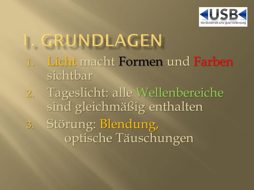 Leuchtdichte L: 1Lumen auf 1m = 1 Lux Leuchtdichte L: 1Lumen auf 1m = 1 Lux Bei 2m Entfernung ergibt 1lm dann 0,25 lx Bei 2m Entfernung ergibt 1lm dann 0,25 lx Wann ist es zu hell.