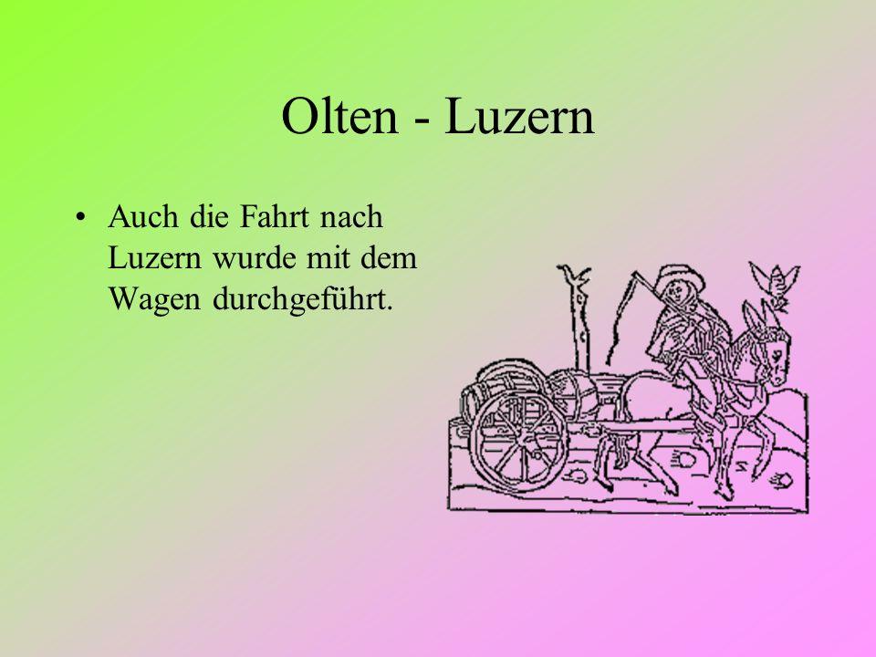 Olten - Luzern Auch die Fahrt nach Luzern wurde mit dem Wagen durchgeführt.