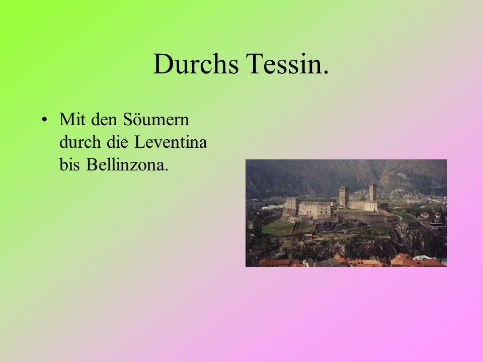 Durchs Tessin. Mit den Söumern durch die Leventina bis Bellinzona.