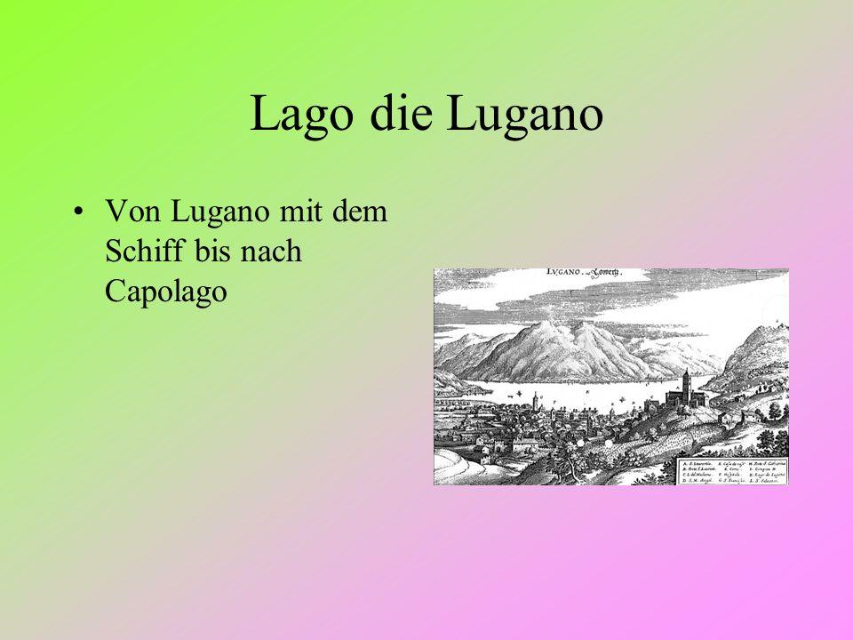Lago die Lugano Von Lugano mit dem Schiff bis nach Capolago