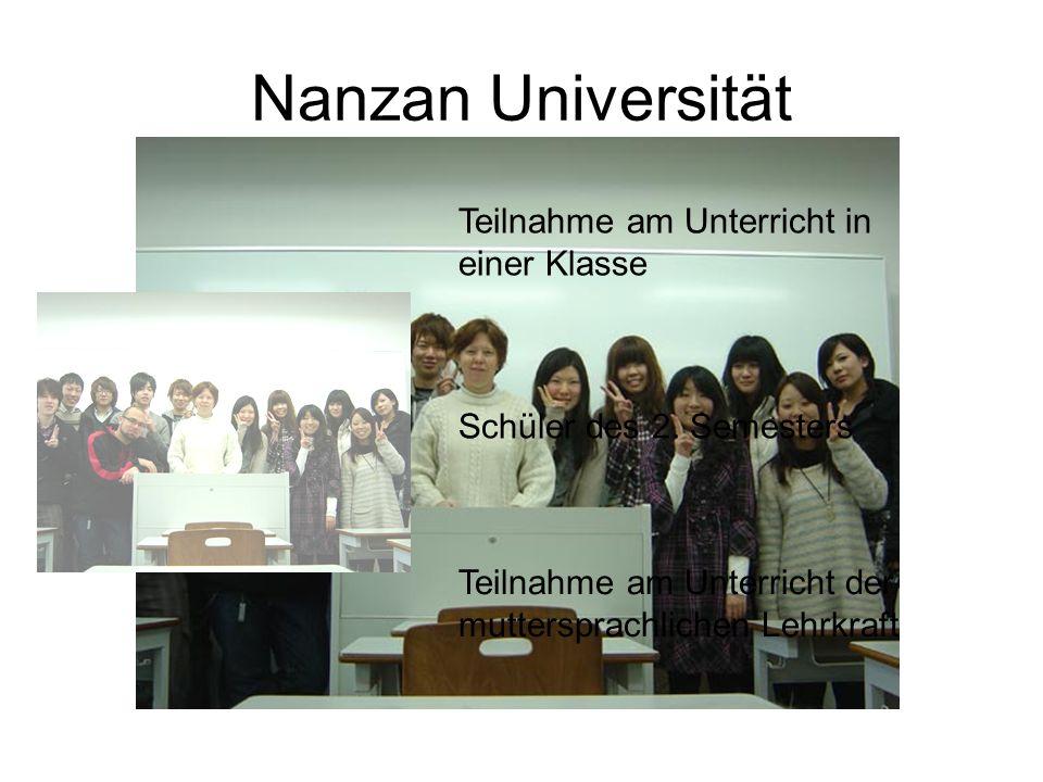 Nanzan Universität Teilnahme am Unterricht in einer Klasse Schüler des 2.