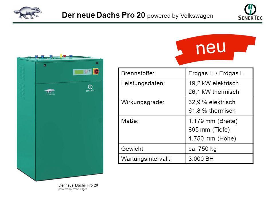 Brennstoffe:Erdgas H / Erdgas L Leistungsdaten:19,2 kW elektrisch 26,1 kW thermisch Wirkungsgrade:32,9 % elektrisch 61,8 % thermisch Maße:1.179 mm (Br