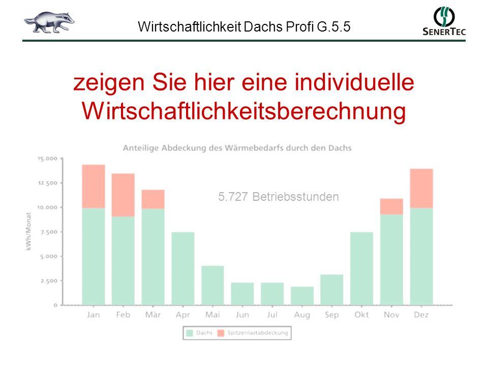 Wirtschaftlichkeit Dachs Profi G.5.5 5.727 Betriebsstunden zeigen Sie hier eine individuelle Wirtschaftlichkeitsberechnung