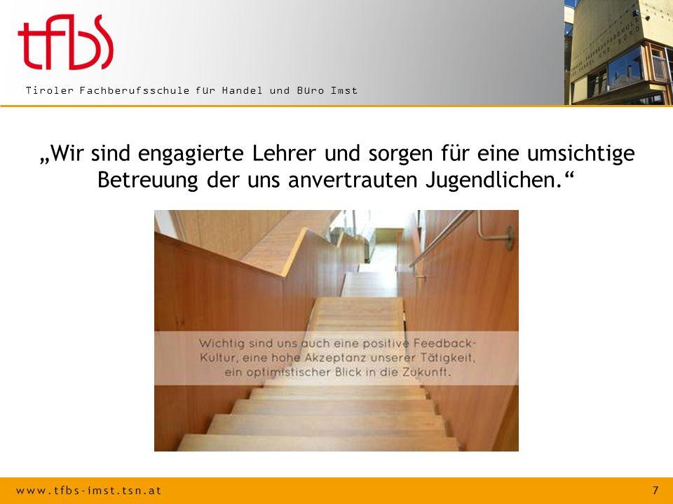 LEHRE AUSBILDUNG MIT ZUKUNFT an der Tiroler Fachberufsschule für Handel und Büro Imst