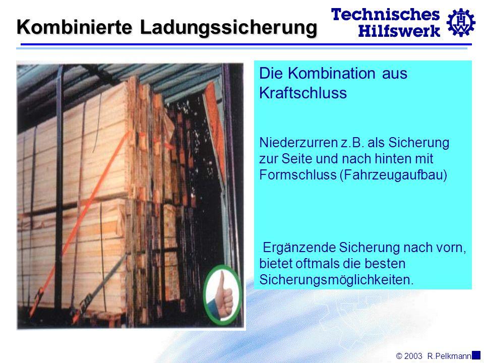 Kombinierte Ladungssicherung Kombinierte Ladungssicherung Die Kombination aus Kraftschluss Niederzurren z.B.