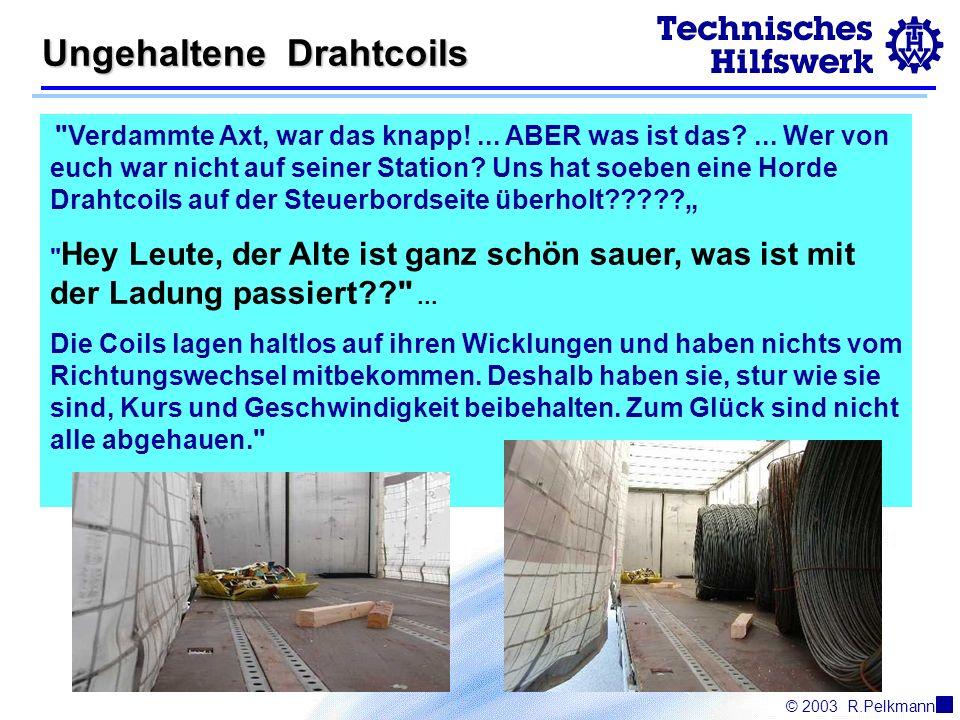 © 2003R.Pelkmann Ungehaltene Drahtcoils Verdammte Axt, war das knapp!...