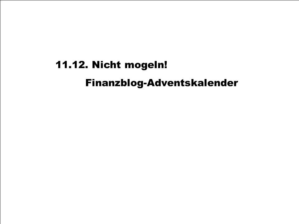 11.12. Nicht mogeln! Finanzblog-Adventskalender