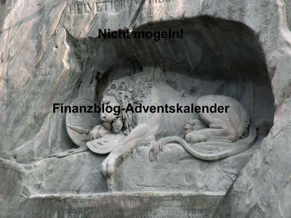 Nicht mogeln! Finanzblog-Adventskalender