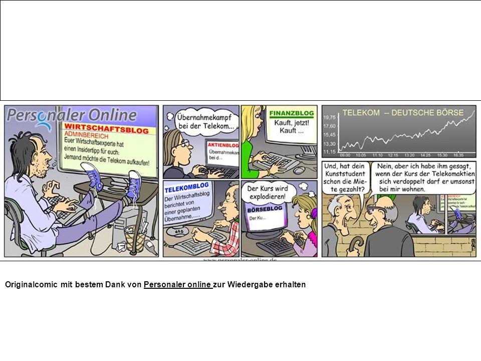 Originalcomic mit bestem Dank von Personaler online zur Wiedergabe erhaltenPersonaler online
