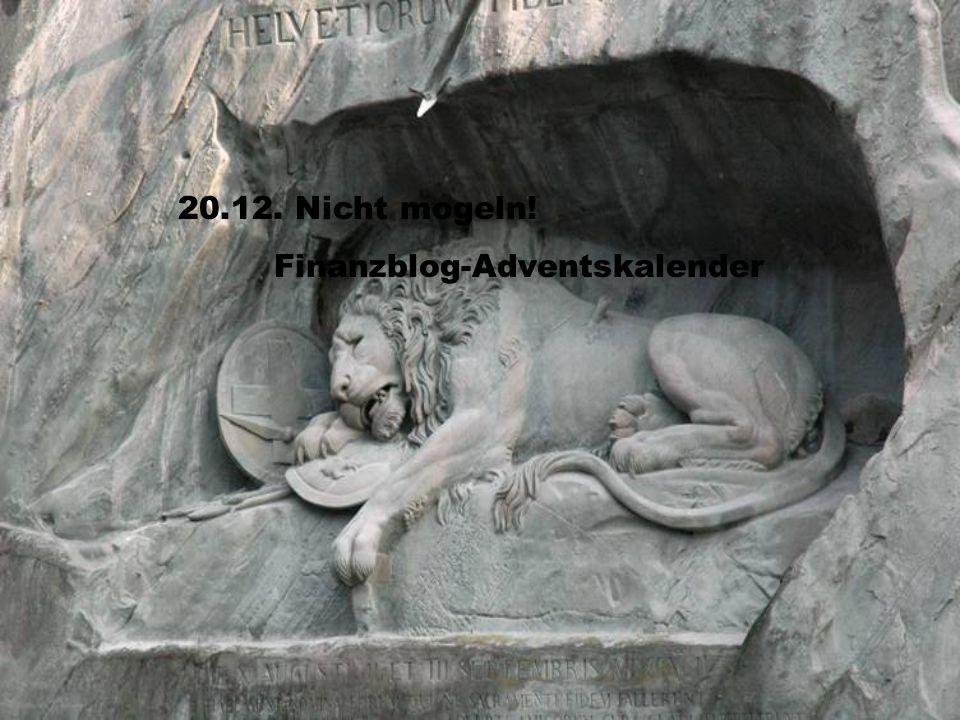 20.12. Nicht mogeln! Finanzblog-Adventskalender