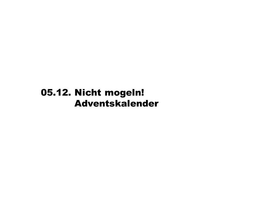 06.12. Nicht mogeln! Adventskalender