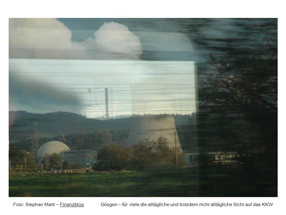 Foto: Stephan Marti – Finanzblog Rupoldingen – gestaute Aare oberhalb des neuen ATEL-WasserkraftwerksFinanzblog