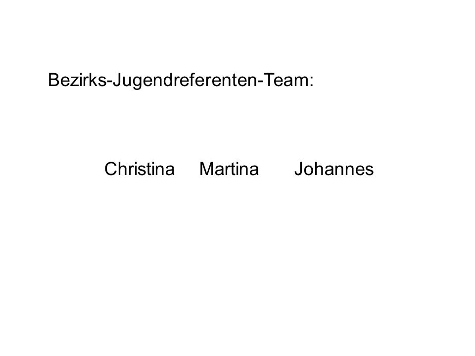 Bezirks-Jugendreferenten-Team: ChristinaMartinaJohannes