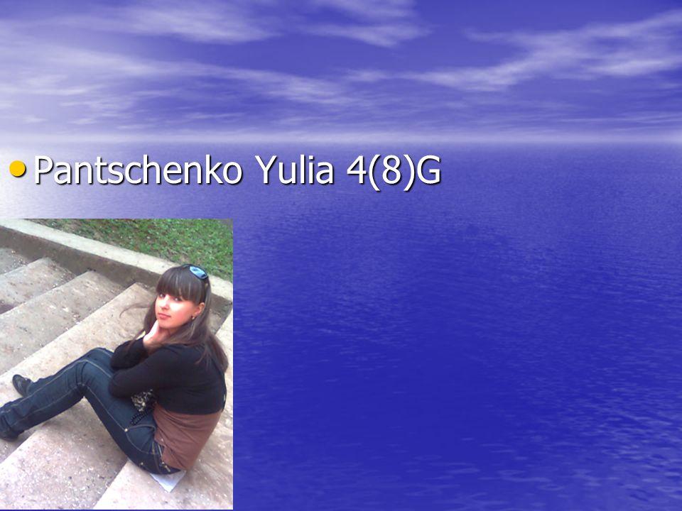 Pantschenko Yulia 4(8)G Pantschenko Yulia 4(8)G