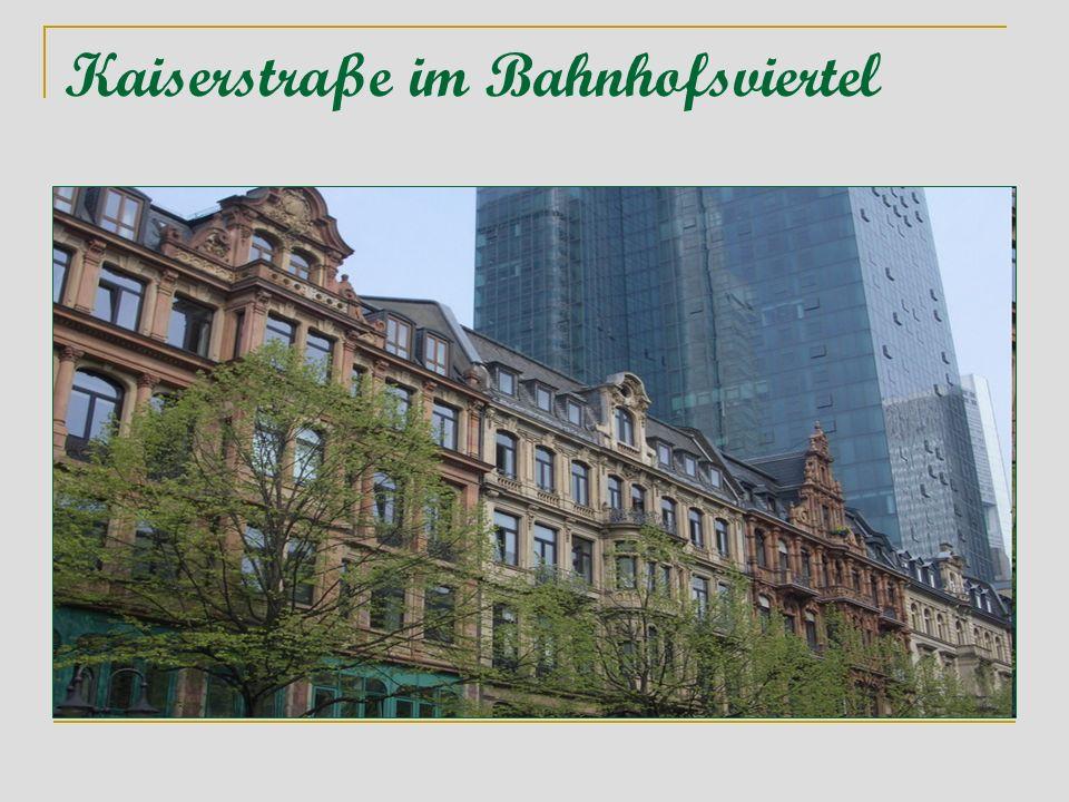 Kaiserstraße im Bahnhofsviertel