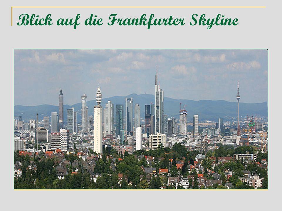 Das Hochhauspanorama ist ein Wahrzeichen von Frankfurt