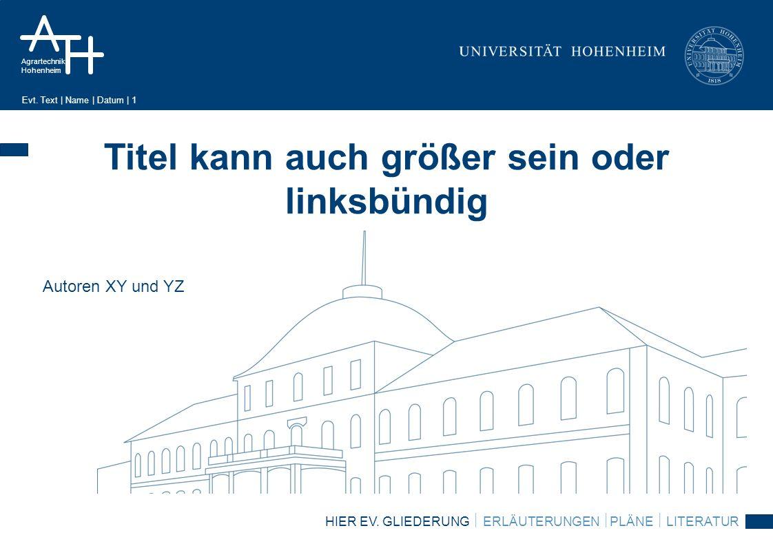 Agrartechnik Hohenheim Evt.