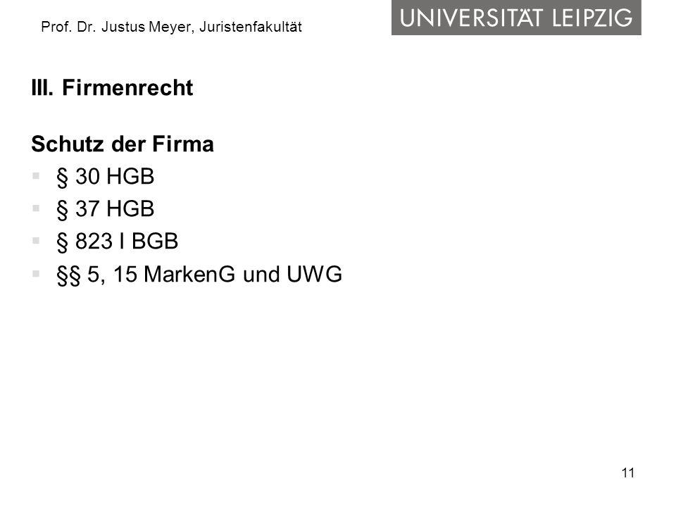 11 Prof.Dr. Justus Meyer, Juristenfakultät III.