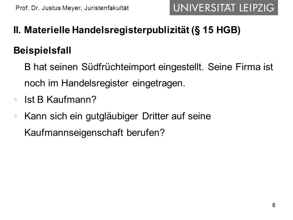 7 Prof.Dr. Justus Meyer, Juristenfakultät II.