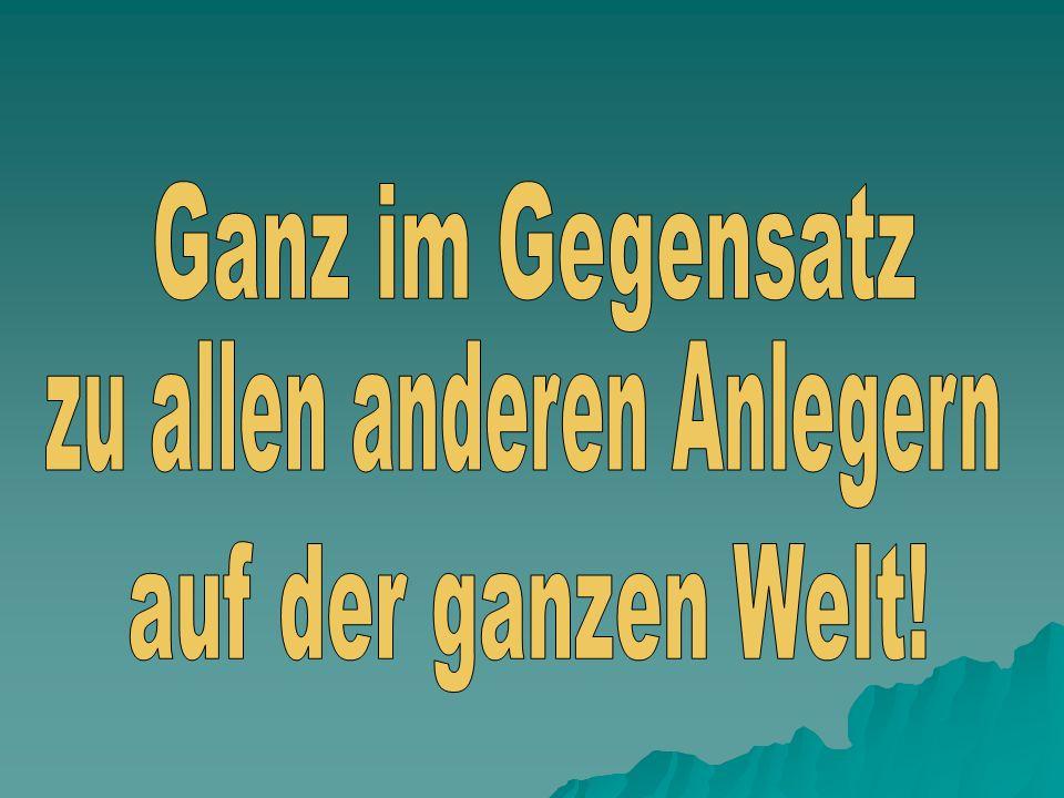 In der Sendung Wiso Anfang Mai 2007 wurde festgestellt, dass die Deutschen die sehr positive Entwicklung an der Börse in den Jahren 2004 bis 2007 nich